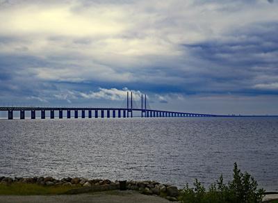 Wolken über der Öresundbrücke