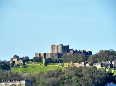 Dover Castle in der Abensonne