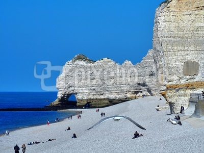 der Strand in Etretat