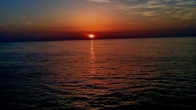 Sonnenuntergang im Ärmelkanal