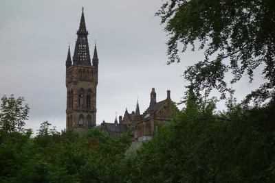 Universität Glasgow vom Kelvingrove Park