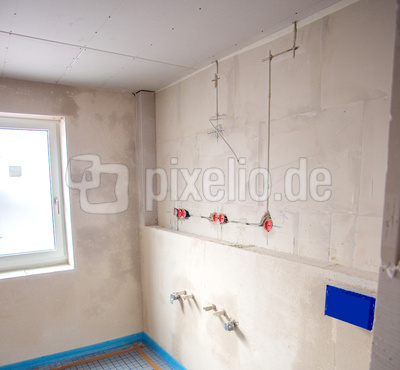 Innenausbau Badezimmer Rohbau