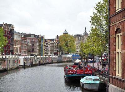 schwimmender Markt in Amsterdam