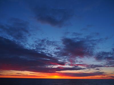Abendhimmel über dem Skagerak