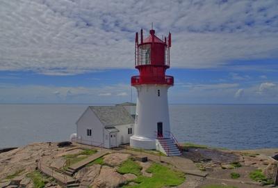 Norwegen Lindesnes Fyr (Leuchtturm)