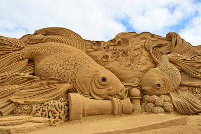 Sandskulpturen bei Søndervic (Dänemark) / 3