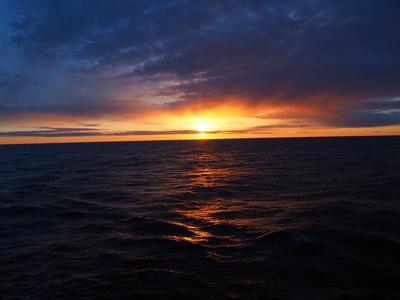 Abendhimmel über der Nordsee