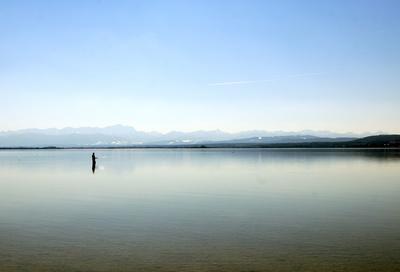 Angler im See