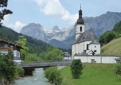 Kirche St. Sebastian in Ramsau bei Berchtesgaden