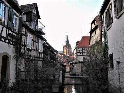 Malerischer Winkel in Wissembourg/Elsaß - Querformat