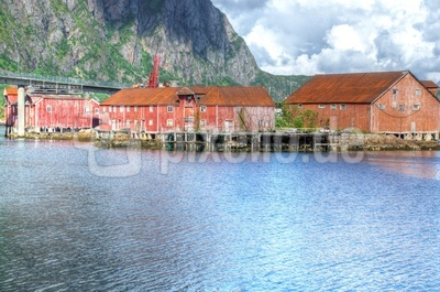 Alte Fischerei in Svolvaer