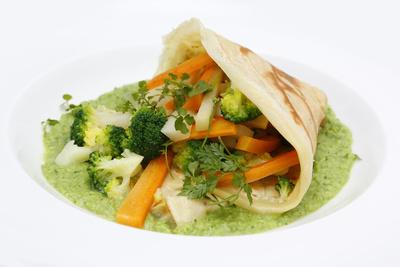 Gemüse Wrap