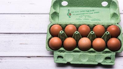 Eier in der Schachtel