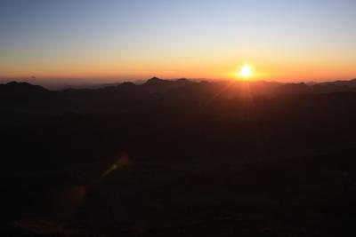Spirituelle Momente - Sonnenaufgang am Mosesberg (Sinai)