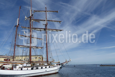 Segelschiffe im Hafen von Marstal