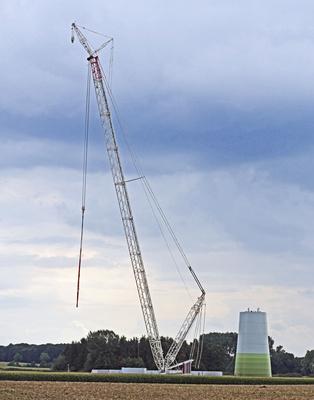 Windkraft-Baustelle . . . .