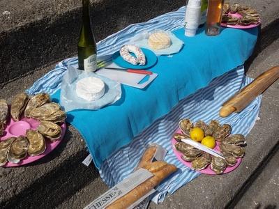 Picknick mit Austern in Frankreich