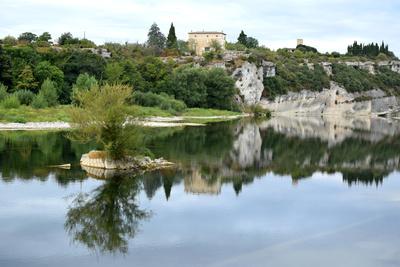 Die Rhone am Rande der Provence