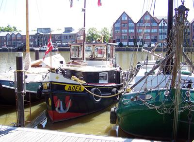 Schiffe im Hafen von Leer/Ostfriesland