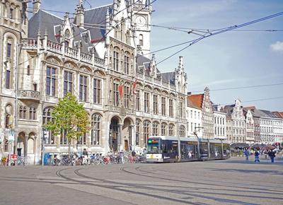Am Kornmarkt in Gent