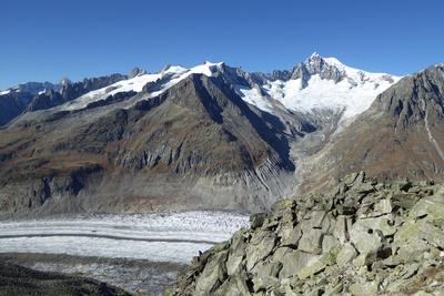 Grosses Aletschhorn und Aletschletscher