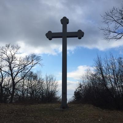 Sankt-Adalbertskreuz in Tenkitten, Ostpreussen