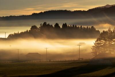 Wallender Nebel