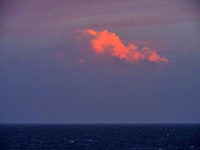 Abendwolke über dem Atlantik