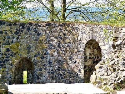 historische Burgmauern