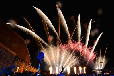 Feuerwerk im Regen