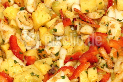 Kalamar Kartoffel Paprika