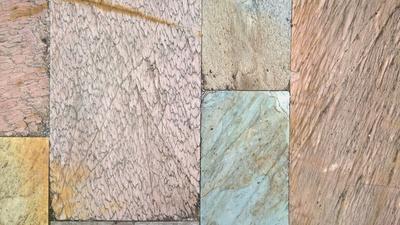 vielfarbige Steinplatten