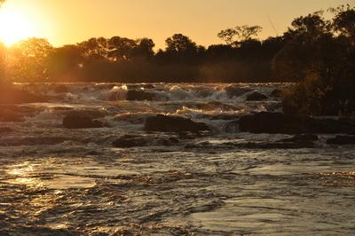 Sonnenuntergang an den Popa Falls