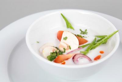 Suppe frisch zubereitet