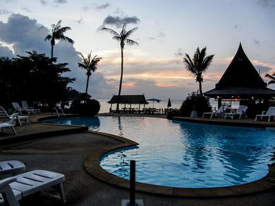 Sunset am Pool