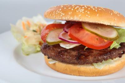 Hamburger nah dran
