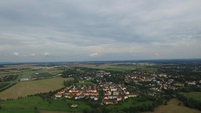 Borsdorf bei Leipzig von oben