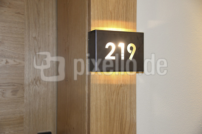 Hotelzimmer, Zimmernummer
