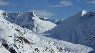 Aletschgletscher schneebedeckt