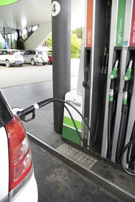 Tanken, Erdgasfahrzeug