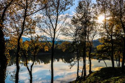 Herbstlicher Blick auf den See