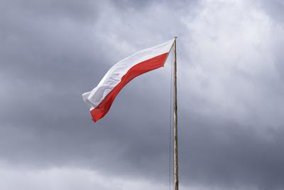 Eine Tiroler bzw. Südtiroler Flagge weht im Wind!