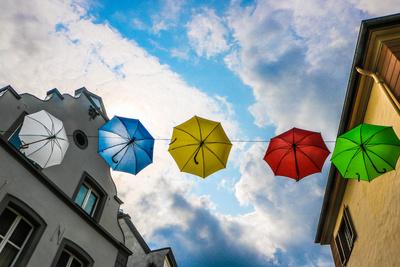 Regenschirme gefällig?