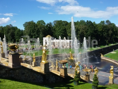 Parkanlage Peterhof in Russland
