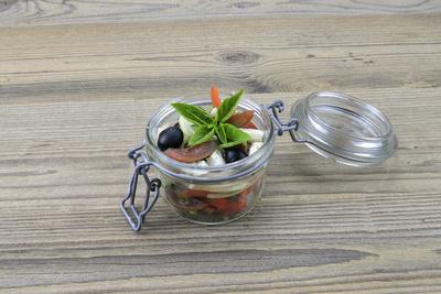 Griechischer Salat aus dem Glas