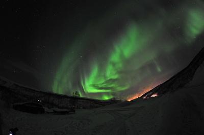 Aurora borealis wunderbare Nordlichter in Norwegen / Finnmarken