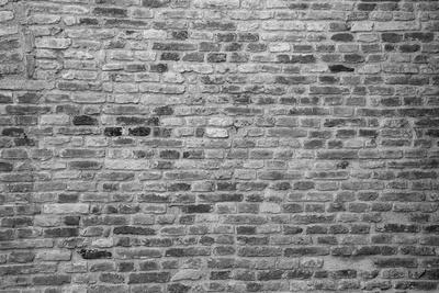 Hintergrund | Textur: Backsteinmauer S/W