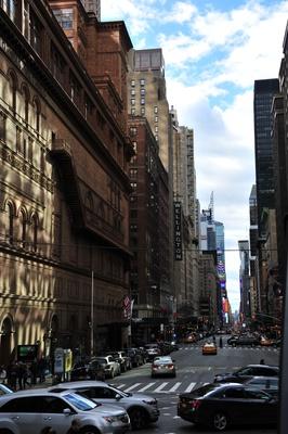 7th Avenue Carnegie Hall New York City - Blick zum Time Square