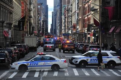 Polizeieinsatz und Straßensperre in New York