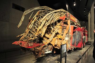 9/11 zerstörte Feuerwehr - 11. September Memorial